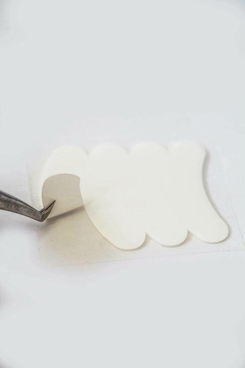 Patch extensions de cils gel antidérapant