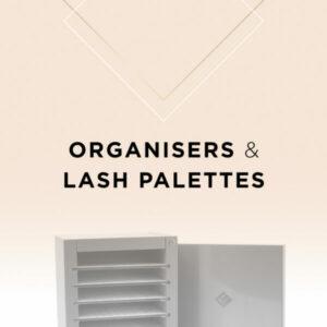 Rangement et lash palette