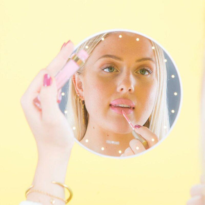 Miroir portable à leds